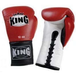 Boxerské rukavice King Lace-up - červená/bílá/černá červená 8