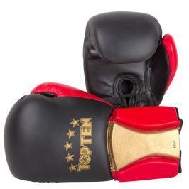Boxerské rukavice Top Ten Sparring Elite - černá/červená/zlatá černá 16