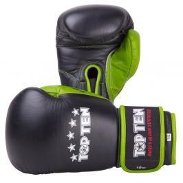 Boxerské rukavice TOP TEN - černá/zelená černá 10