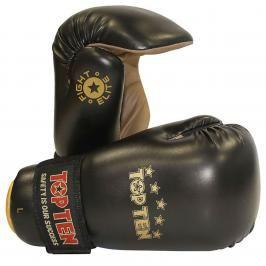 Otevřené rukavige Top Ten Fight Elite - černá černá L