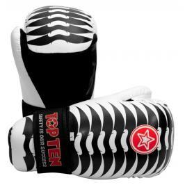 Otevřené rukavice Top Ten Individuals - Ribs bílá XL