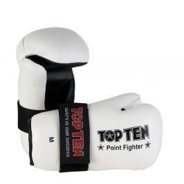Otevřené rukavice Top Ten Point Fighter - bílá bílá S