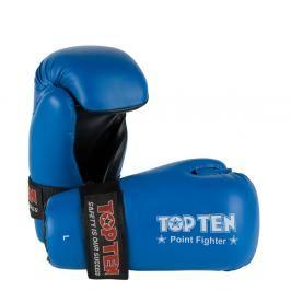 Otevřené rukavice Top Ten Point Fighter - modrá modrá XL