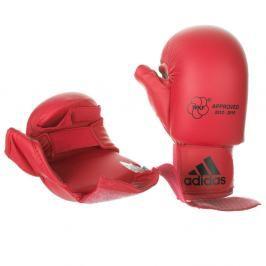 Chrániče rukou na karate adidas WKF červená s palcem červená XS