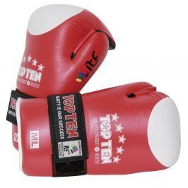 Otevřené rukavice TOP TEN ITF Superfight 3000 - červená červená M/L