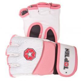 Top Ten MMA rukavice Gel - bílá/růžová bílá S