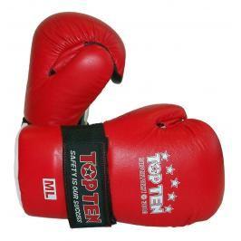 Otevřené rukavice Top Ten Superfight 3000 - červená červená S/M