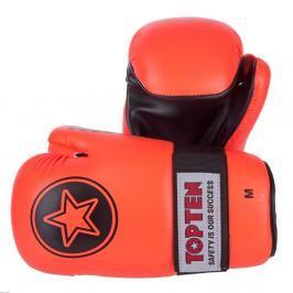 Otevřené rukavice Top Ten Point Fighter - oranžová oranžová L