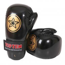Otevřené rukavice Top Ten Point Fighter - černá černá M