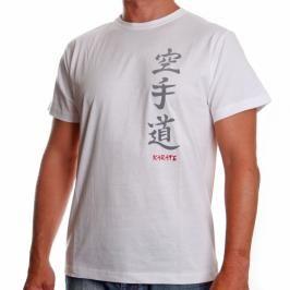 Triko Satori kaligrafie - KARATE - bílá bílá XL