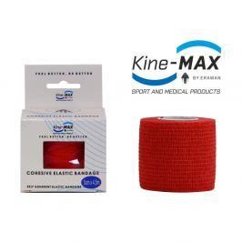 Kine-MAX Samofixační elastické obinadlo-5cm,7,5cm,10cm - červená červená 7,5cm