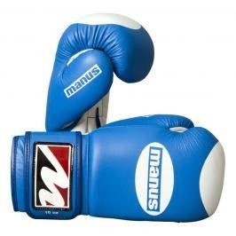 Manus kožené rukavice s terčíkem - modrá/bílá modrá 10
