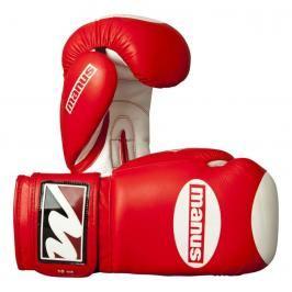 Manus kožené rukavice s terčíkem - červená/bílá červená 10