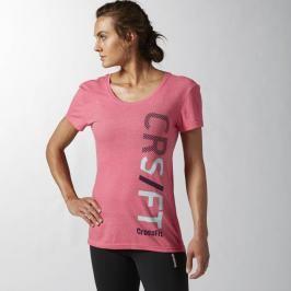 Reebok dámské tričko s krátkým rukávem - růžová růžová S
