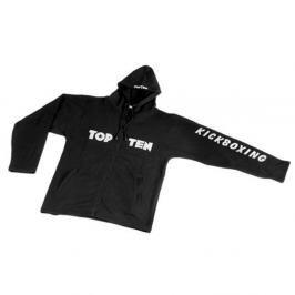 Mikina Top Ten s výšivkou Kickboxing černá S