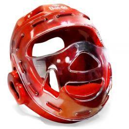 Daedo přilba WTF s maskou - červená červená S
