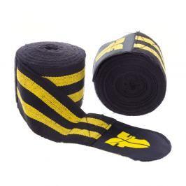 Bandáže Fighter - černá/žlutá černá 2,5
