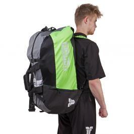 Sportovní taška Fighter - černá/neon zelená černá L