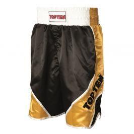 Boxerské trenky TOP TEN - černá/zlatá černá S