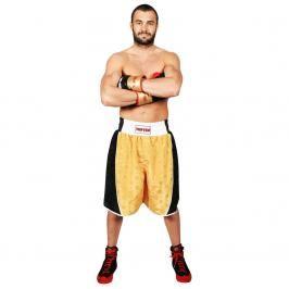 Boxerské trenky TOP TEN - černá/zlatá černá M
