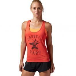 Reebok dámský top CrossFit Makes Me Hard - oranžová oranžová L