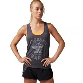 Reebok dámský top CrossFit Makes Me Hard - šedá šedá S