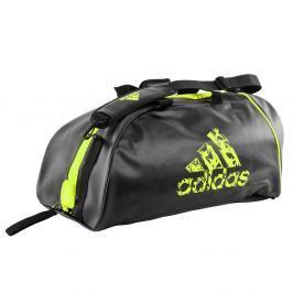 Sportovní taška adidas training 2in1 - černá/žlutá černá M