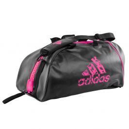 Sportovní taška adidas training 2in1 - černá/růžová černá M