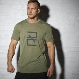 Reebok Combat Training SS Logo triko zelená S