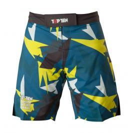 Top Ten MMA trenky Jungle - černá/modrá/žlutá černá S