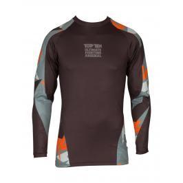 Top Ten rashguard Jungle - černá/šedá/oranžová černá S
