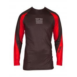 Top Ten rashguard UFA - černá/červená černá S