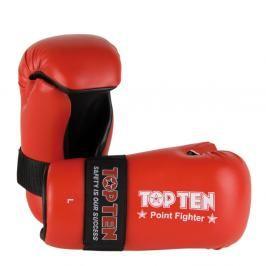 Otevřené rukavice Top Ten Point Fighter - červená červená XL