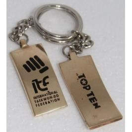 Přívěsek na klíče Taekwondo ITF zlatá