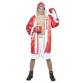 Boxerský plášť Top Ten - červená/bílá červená L/XL
