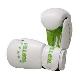 Boxerské rukavice Top Ten Basic - bílá/zelená bílá 10