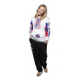 Mikina s kapucí Taekwondo ITF bílá L