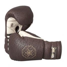 Boxerské rukavice Top Ten se šněrováním Superior hnědá 12
