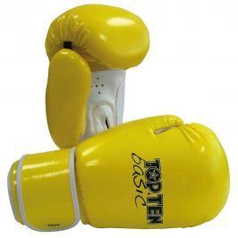 Boxerské rukavice Top Ten Basic - žlutá/bílá žlutá 10