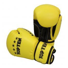 Boxerské rukavice Top Ten Basic - žlutá/černá žlutá 10