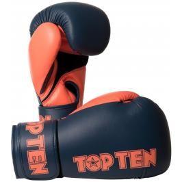 Boxerské rukavice Top Ten XLP - šedá/oranžová šedá 10