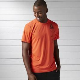 Reebok Activchill Graphic triko - oranžová oranžová M