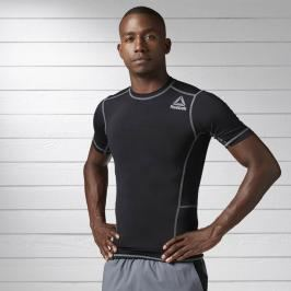 Reebok Workout Ready SS kompresní triko černá XL