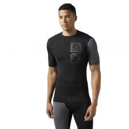 Reebok Activchill Graphic kompresní triko - černá černá S
