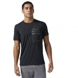 Reebok Pánské tričko Active Chill Zone Graphic černá S