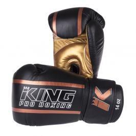 Boxerské rukavice King ELITE - černá/zlatá černá 10