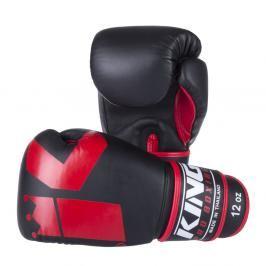 Boxerské rukavice King - černá/červená černá 12
