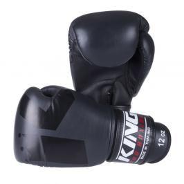 Boxerské rukavice King - šedá/černá šedá 10