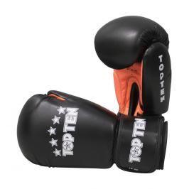 Boxerské rukavice Top Ten Basic - černá/oranžová černá 10
