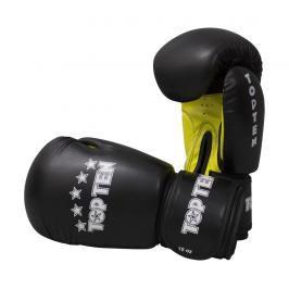 Boxerské rukavice Top Ten Basic - černá/žlutá černá 10